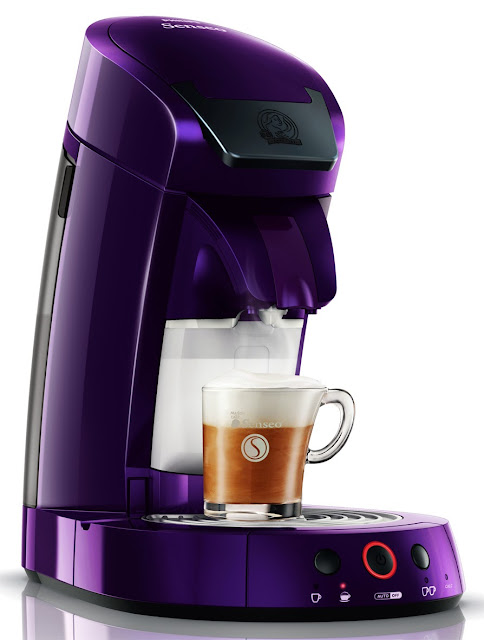 Cafetera Senseo Latte color purpura