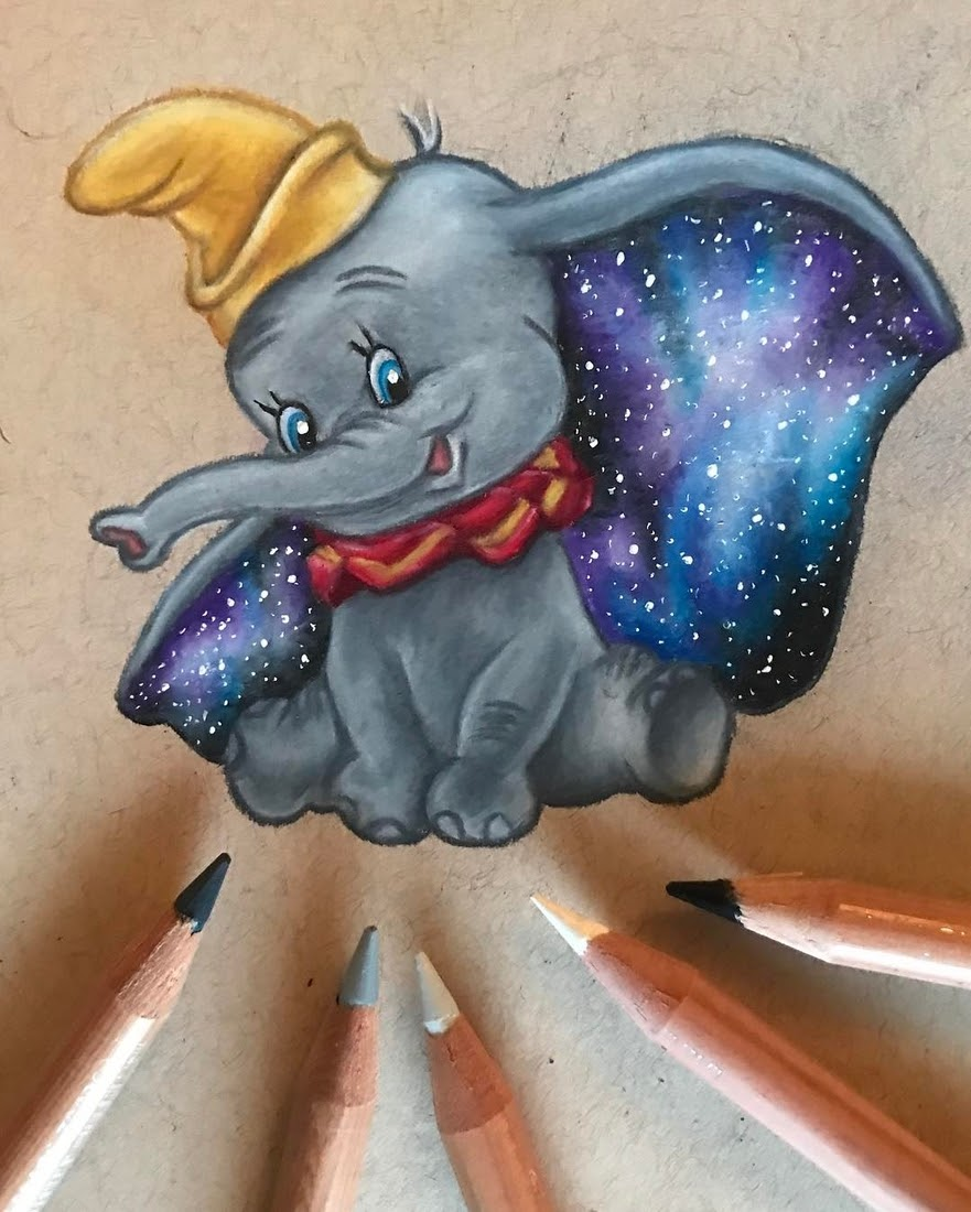 01-Galaxy-Dumbo-the-Elephant-Laura-Animated-Characters-Drawings-a-Time-Trip-to-Childhood-www-designstack-co
