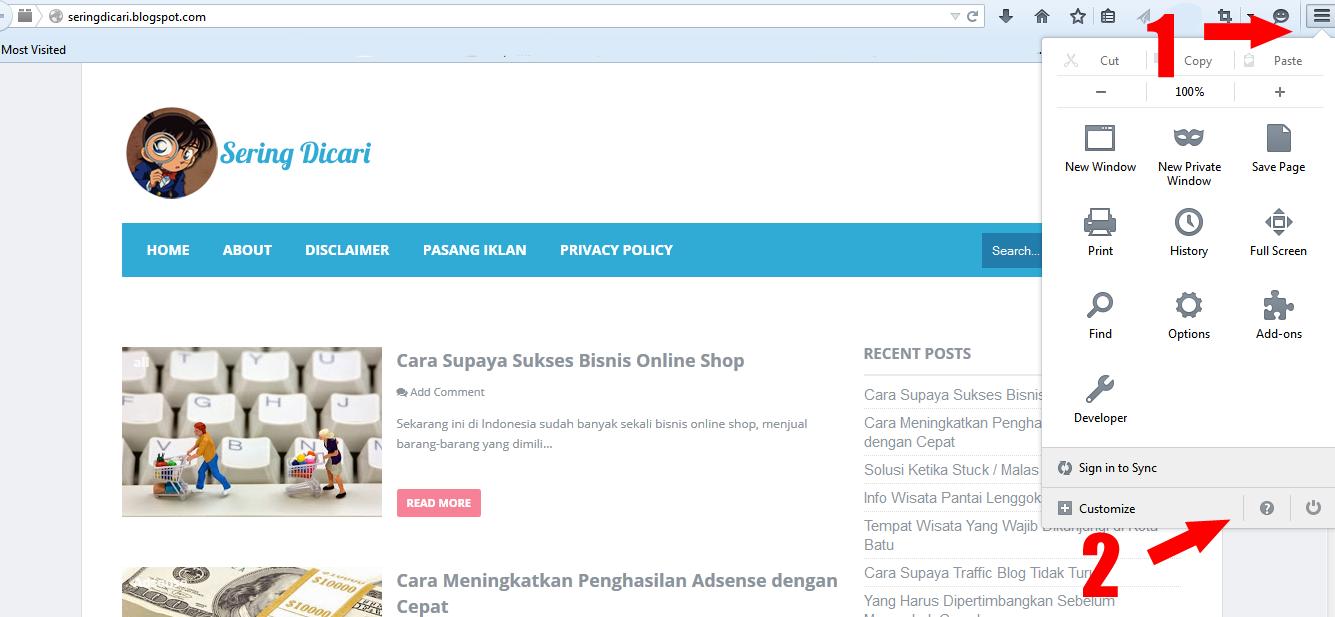 Cara Mudah Update Mozilla Firefox Terbaru