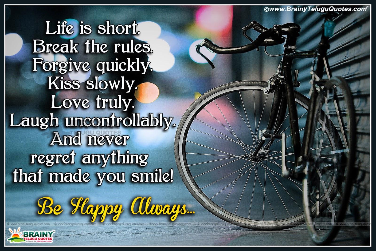 Happy Life Quotes In English Brainyteluguquotescomtelugu Quotes
