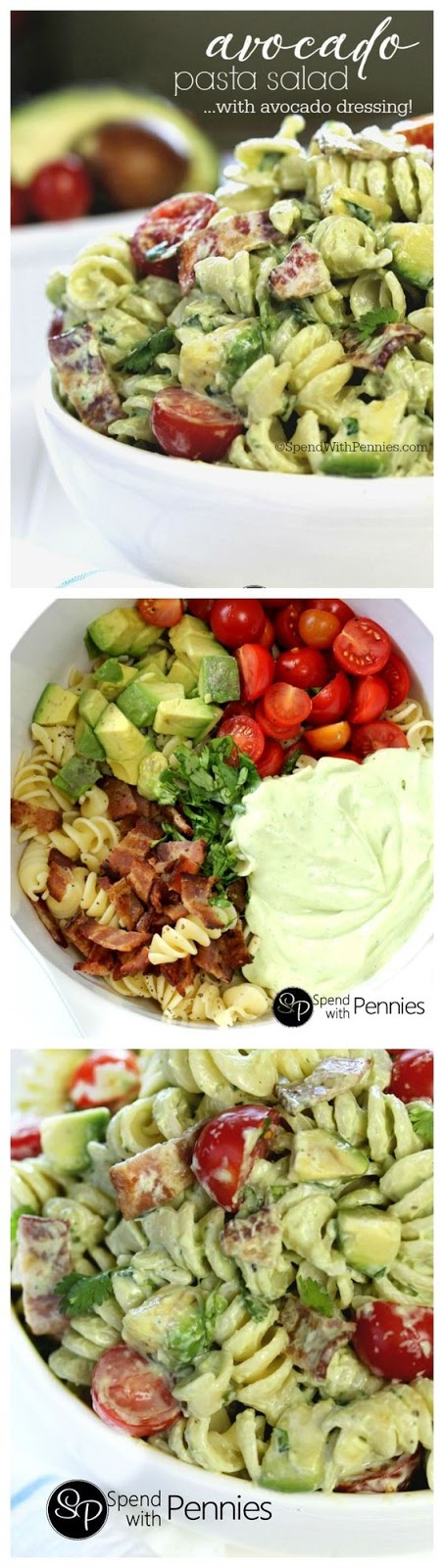 Avocado Cold Pasta Salad