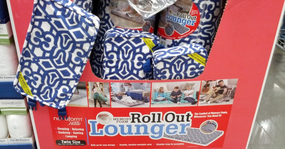 Kitchen Memory Foam Mat Decore Novaform Home Roll Out Lounger | Costco Weekender