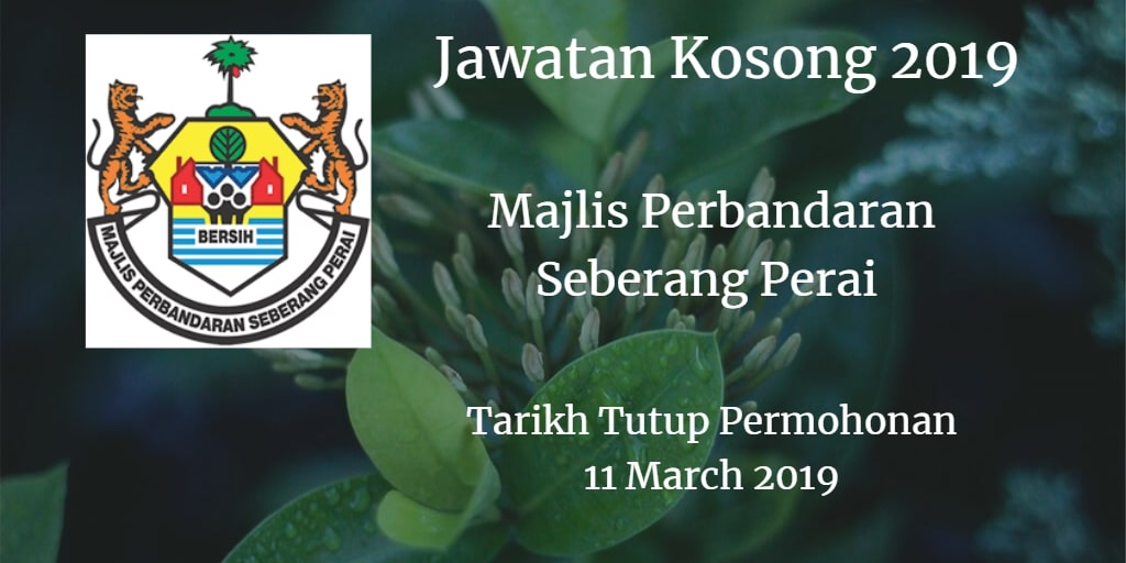 Jawatan Kosong MPSP 11 Mac 2019