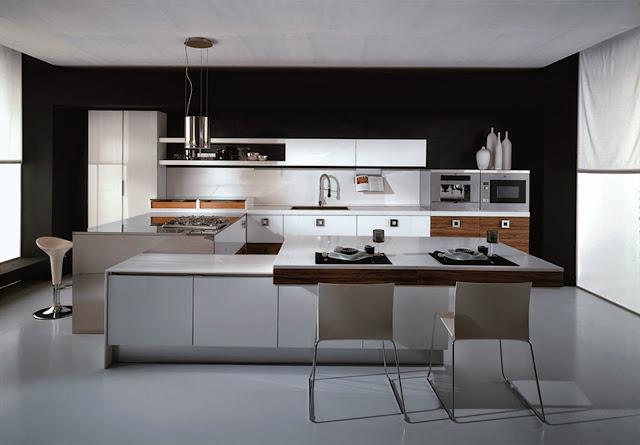 dapur yang elegan tetapi menarik
