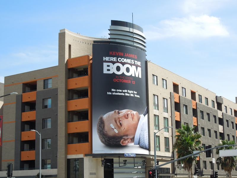 Here Comes Boom movie billboard