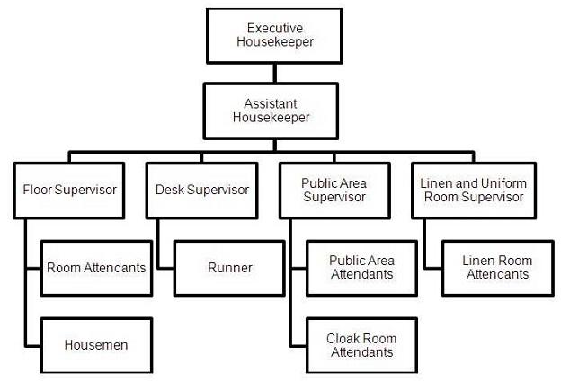 hotel organizational chart template - hotel management