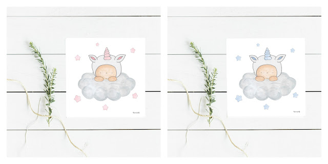 láminas infantiles DECO unicornios