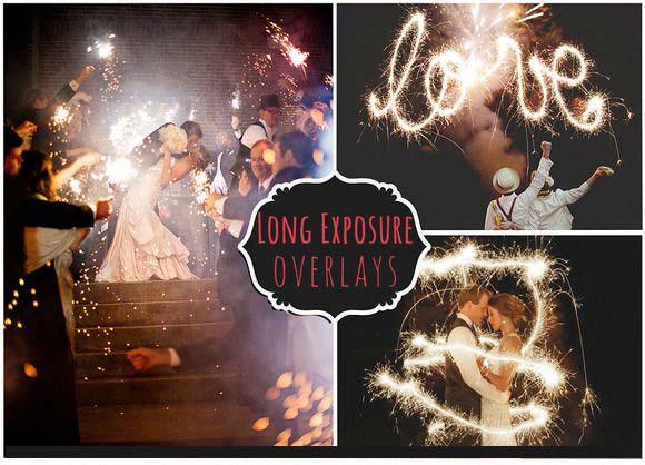 Long Exposure Sparkler Overlays