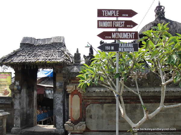 entrance to Penglipuran Village in Bali, Indonesia