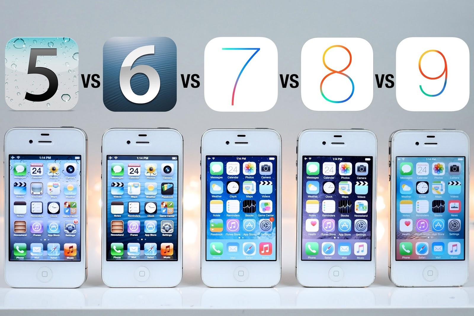 Giao diện iOS qua các đời - có nên mua iPhone cũ hay không?