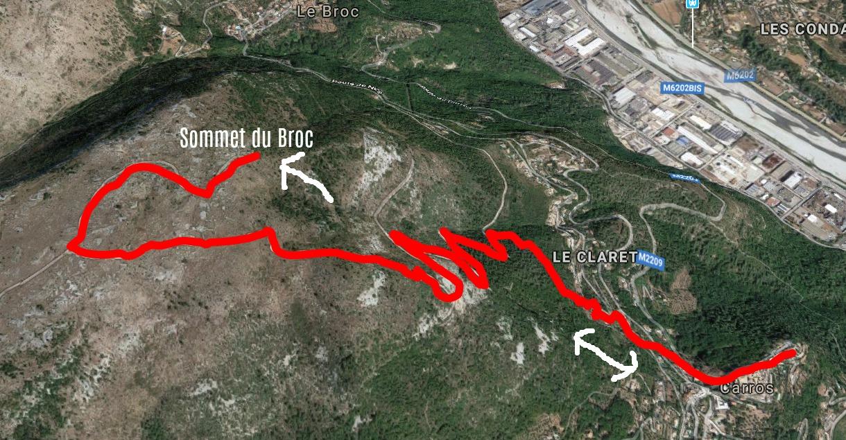 Sommet du Broc trail image