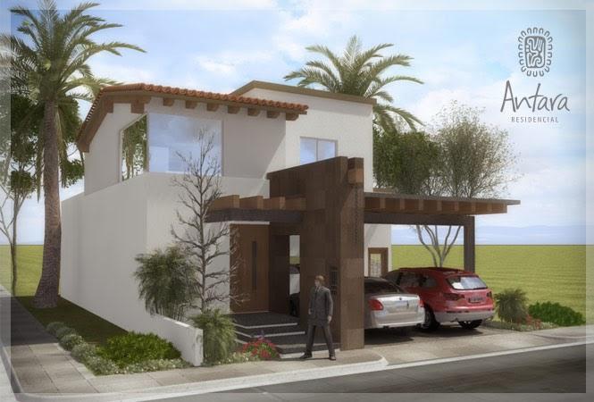 Fachadas de casas modernas fachada contempor nea mexicana for Fachadas de bardas para casas pequenas