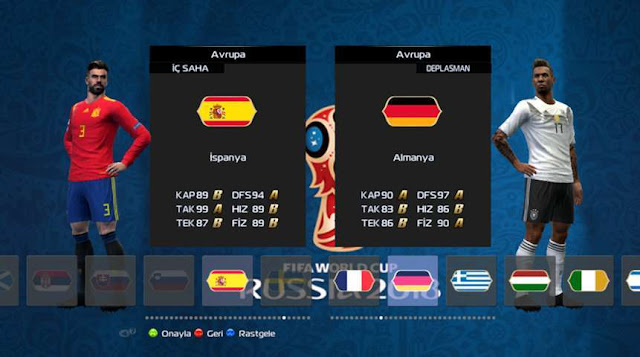 World Cup 2018 Graphic Menu Patch PES 2013