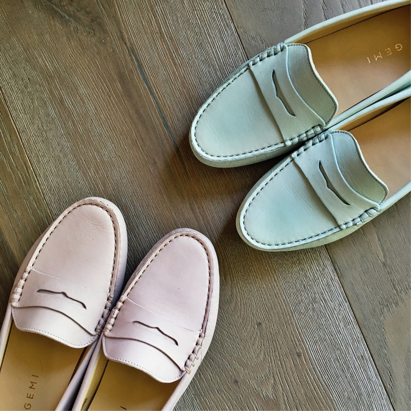pastel loafers