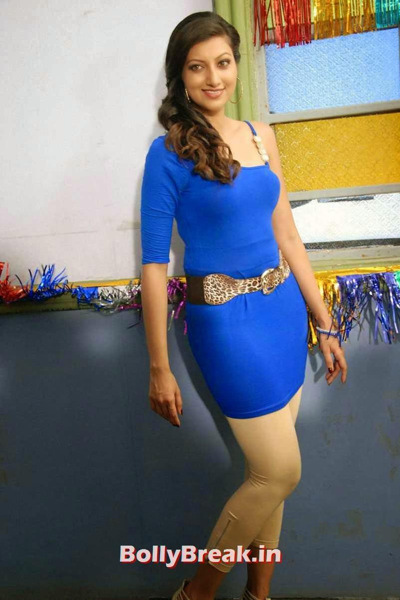 , Hamsa Nandini Hot in Blue - Movie Real Star