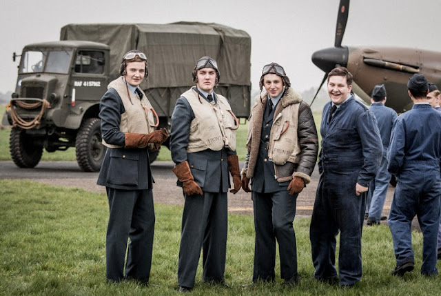 a scene from Home Fires