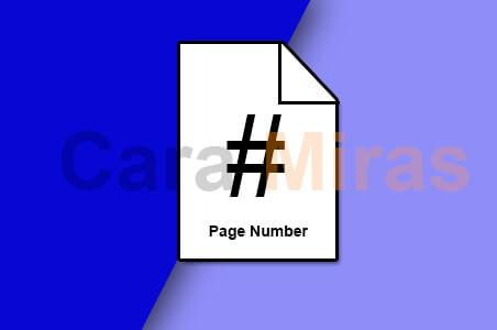 memberi nomor halaman di word