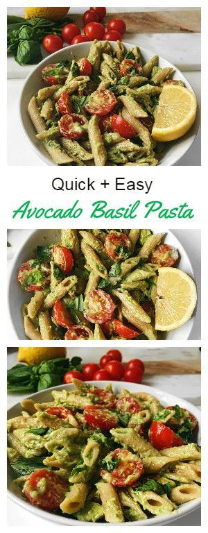 QUICK AND EASY BASIL AVOCADO PASTA | VEGAN + GLUTEN FREE #quickrecipes #easyrecipes #basil #avocado #pasta #pastarecipes #vegan #veganrecipes #glutenfree
