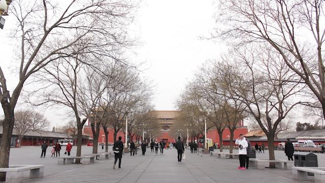 suasana di dalam forbidden city