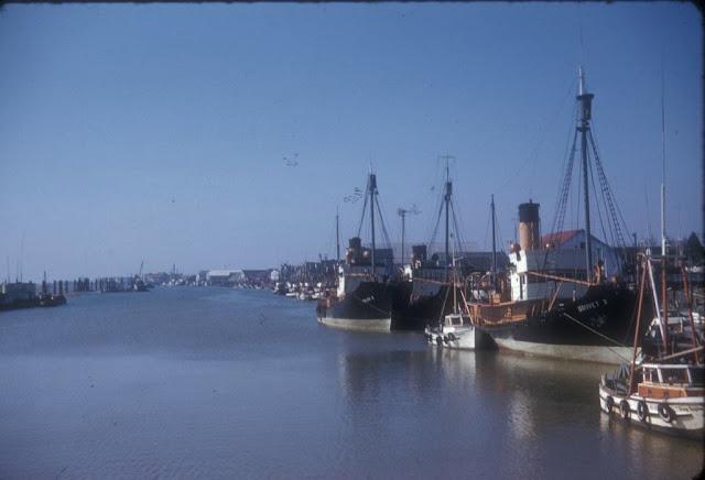 Vessels moored at Steveston in April 1956