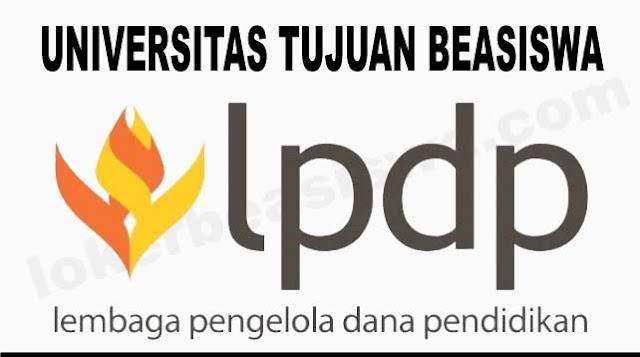 Daftar Universitas Tujuan Beasiswa LPDP