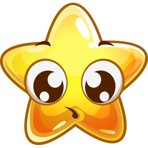 Shy Star - Facebook Stickers