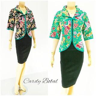 Batik Blouse Cardi Bobal hijau