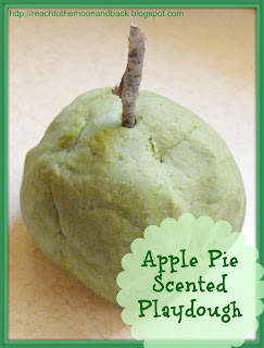 Apple Pie Scented Playdough (No Cream of Tartar needed!)