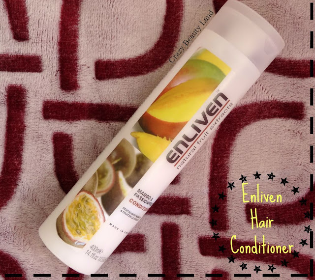 Enliven Silicone Free Hair Conditioners Review Price and Ingredients - Mango and Passionfruit Raspberry and Red Apple Kiwi and Fig