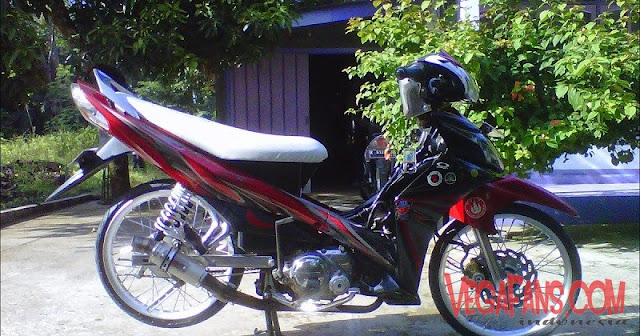 Modifikasi Jupiter Z New Merah Hitam Modif Simple Ceper