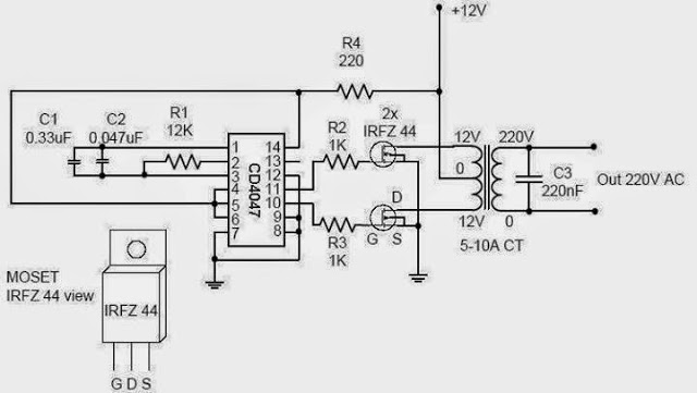 electrical and electronics engineering  a simple inverter