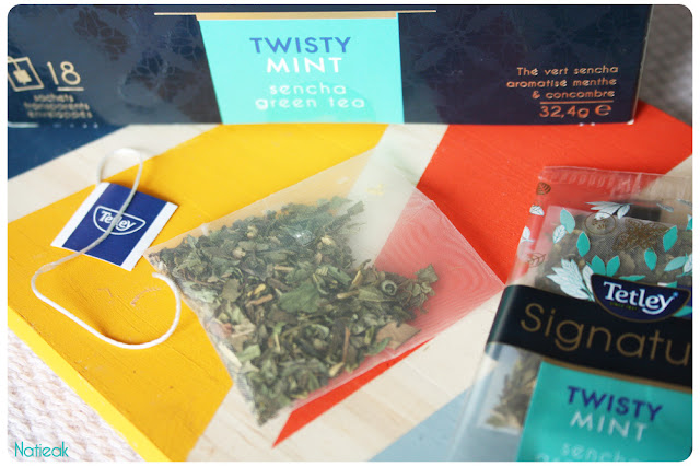 sachet de Thé vert Twisty Mint de Tetley