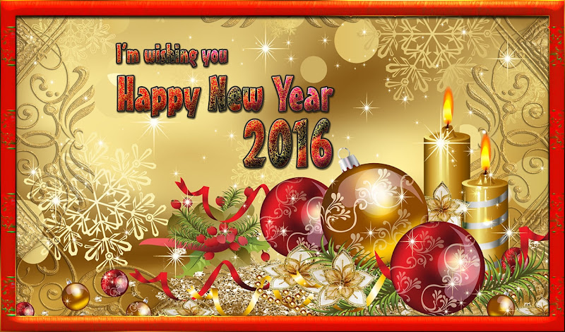 Classic New Year 2016 Greetings Card