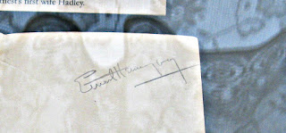 Ernest Hemingway's Autograph - Photo by Cynthia Sylvestermouse
