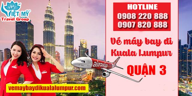 Vé máy bay đi Kuala Lumpur quận 3