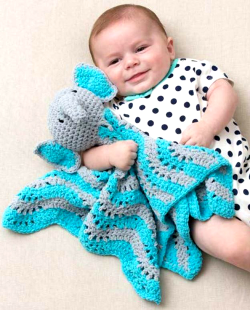 Little Elephant Baby Blanket - Free Pattern