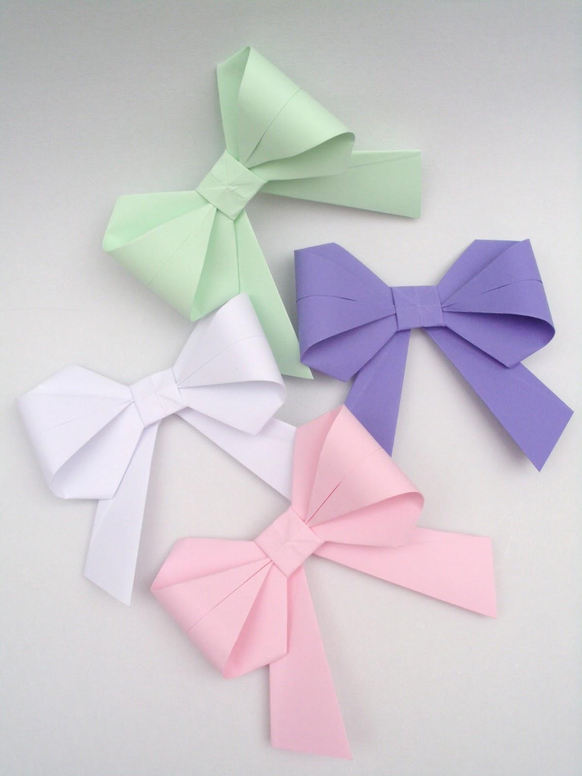 Handmade Paper Heaven Origami Paper Bows Fonte Origami Din Hartie