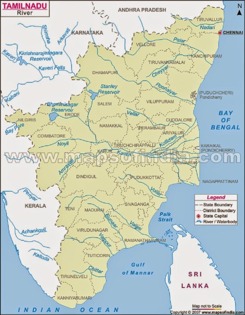 Tamilnadu River Map Tamilnadu River Map | compressportnederland Tamilnadu River Map