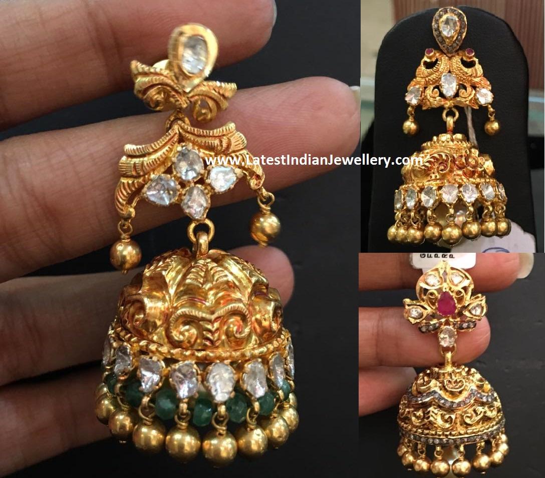 New Nakshi Jhumka Designs