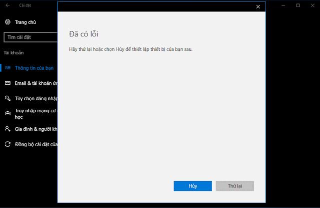 Không đăng nhập được Windows 10 bằng tài khoản Microsoft nguyên nhân và giải pháp