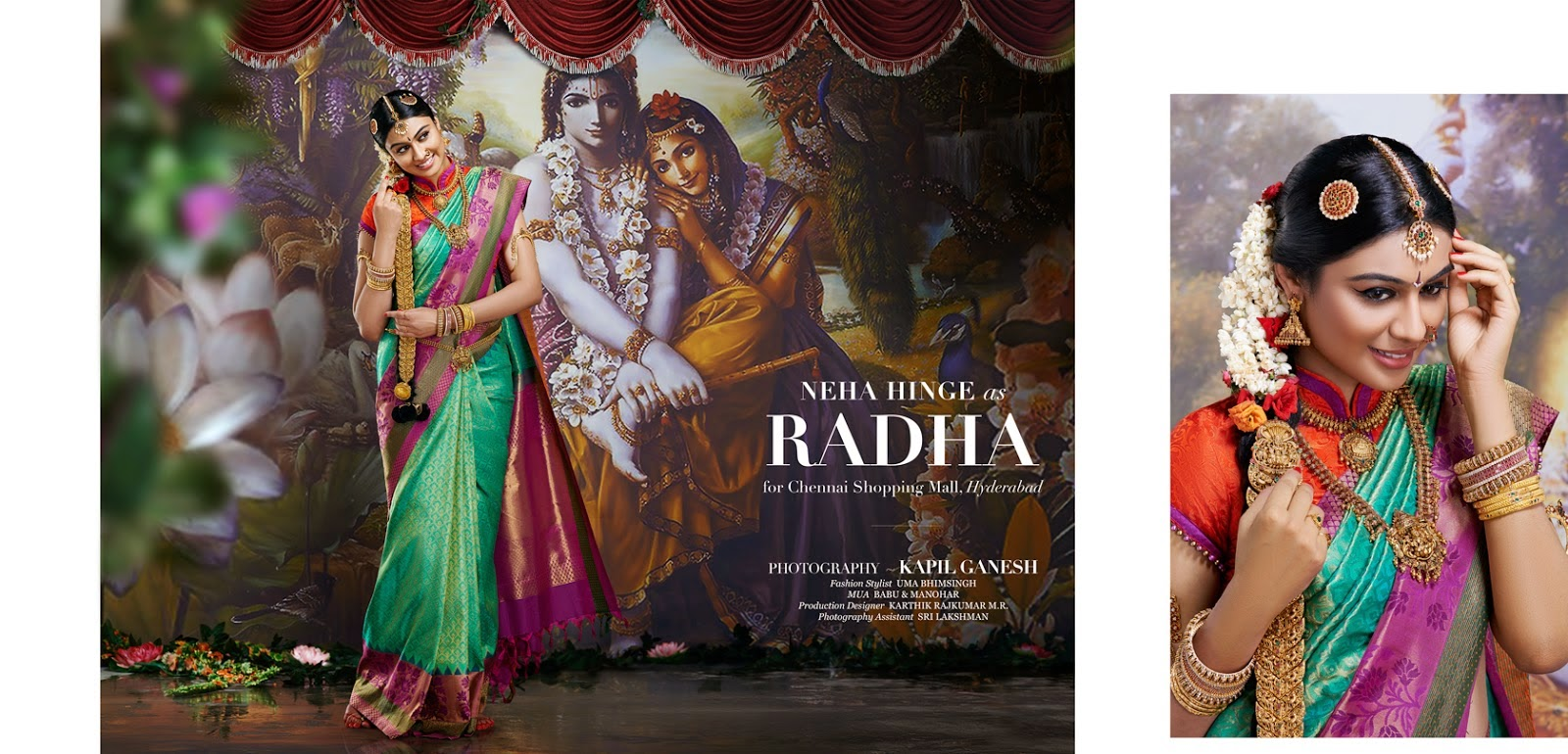 , Neha Hinge as Radha for Chennai Shopping Mall, Hyderabad
