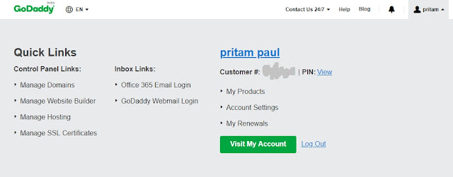 How to Setup Custom Domain on Blogger with Godaddy.com