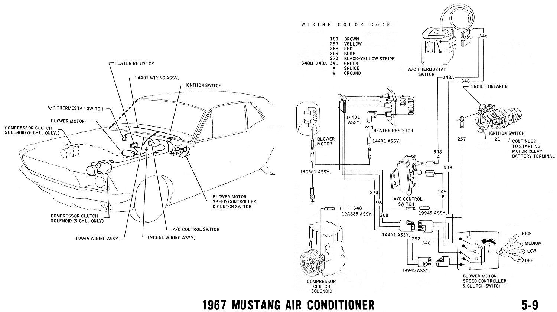 ac wiring diagram 1971 mustang