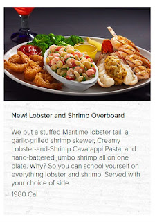 Red Lobster Canada Menu Prices July 8 - September 25, 2017