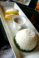 Viceroy Hotel Ubud Review - CasCades Restaurant Coeliac Disease in Bali - Steamed Rice, Banana and Coconut Milk