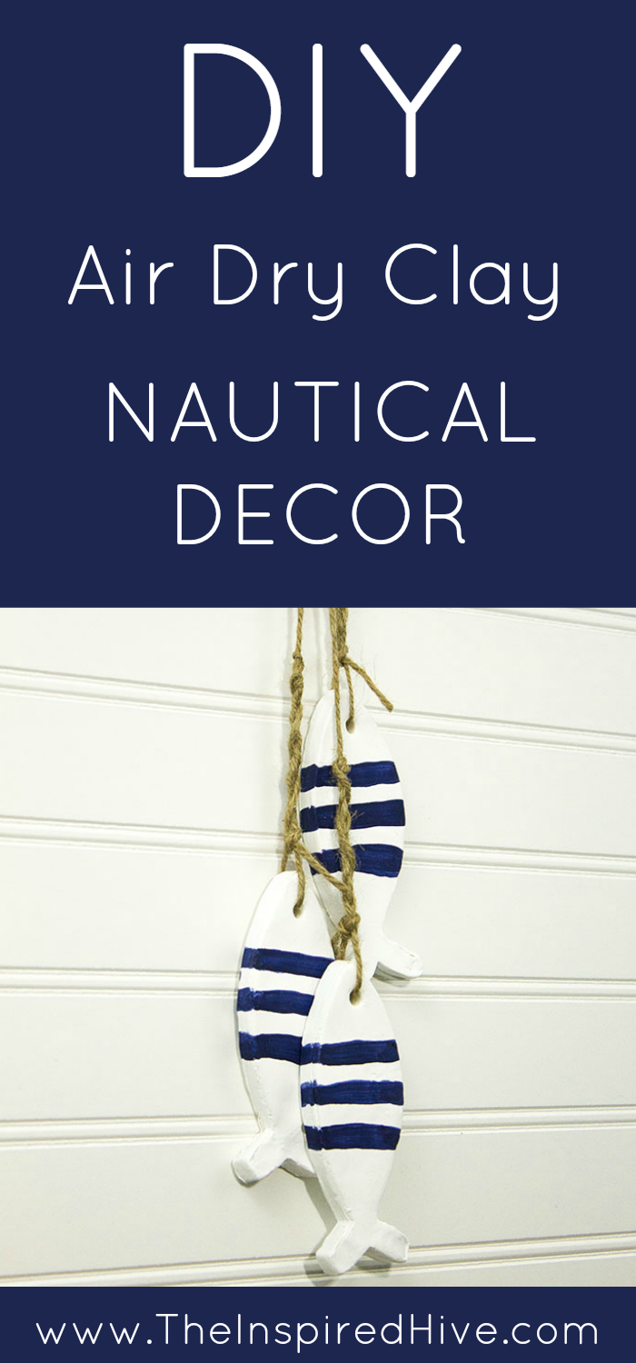 How to make decorative fish hanging wall decor with air dry clay #monthlydiychallenge