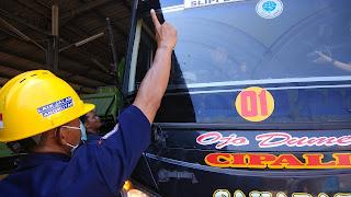 Dishub Kab Cirebon Ram Check Bus Angkutan Lebaran