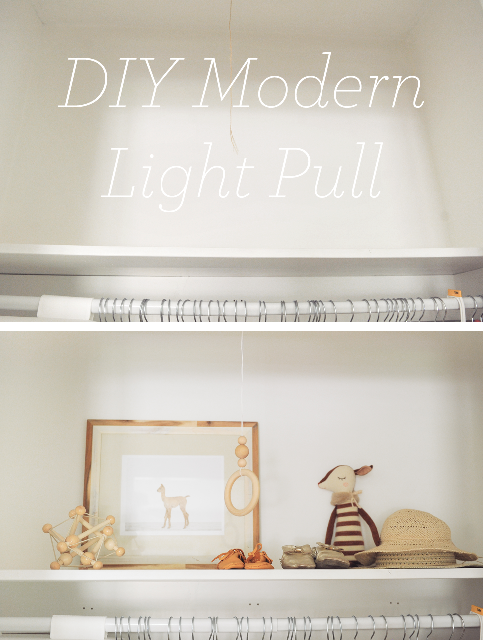 DIY Modern Beaded Closet Light Pull