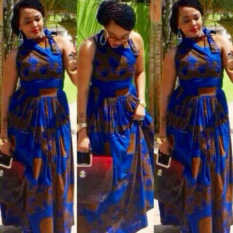 Lovely Ankara Style Long Gown For African Woman Debonke