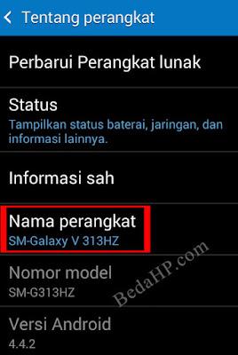 Cara Melihat Tipe HP Samsung Asli